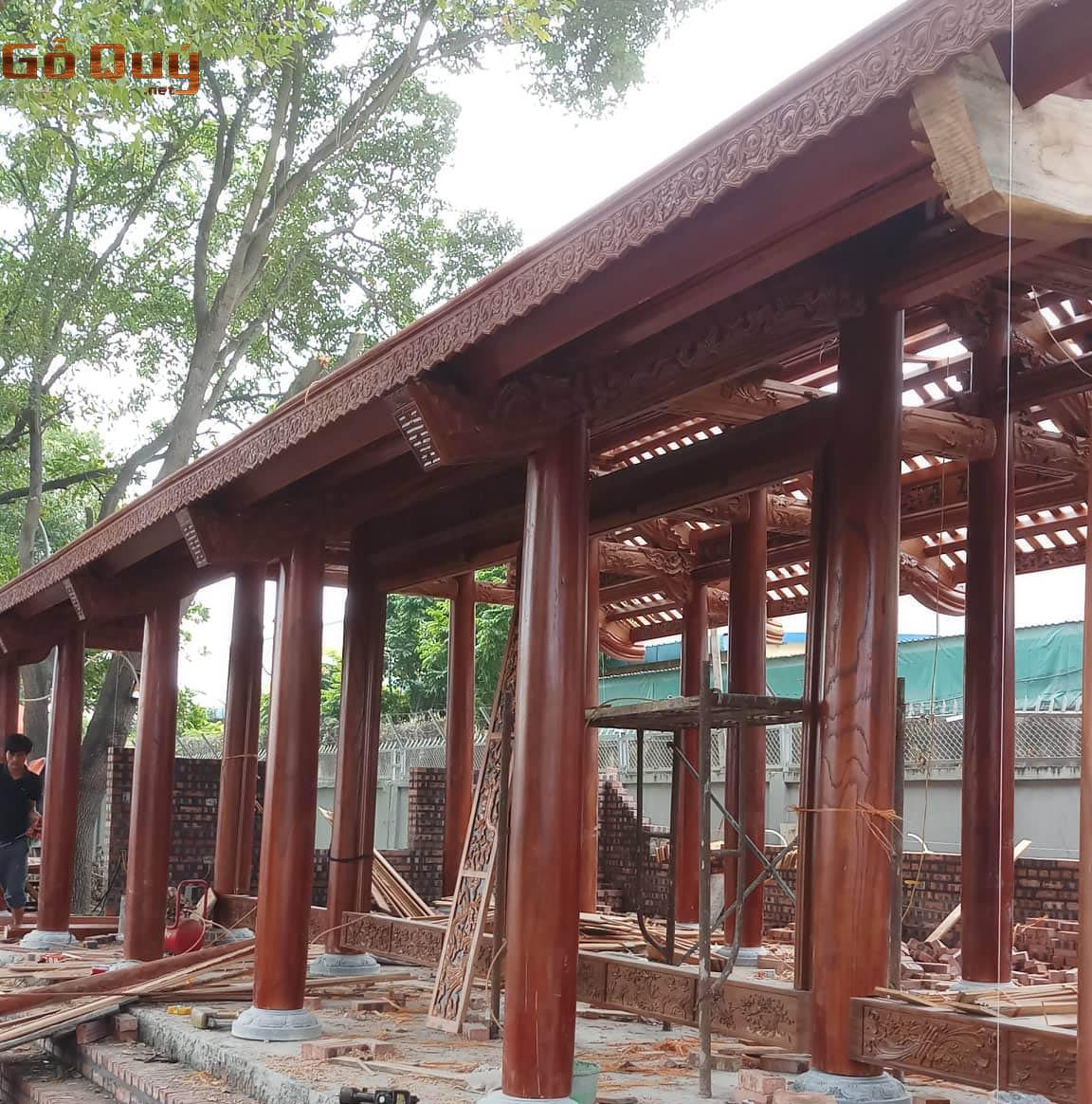 Gỗ Lim dùng để xây nhà