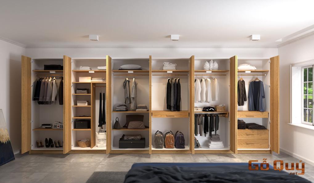 Tủ tường gỗ tự nhiên