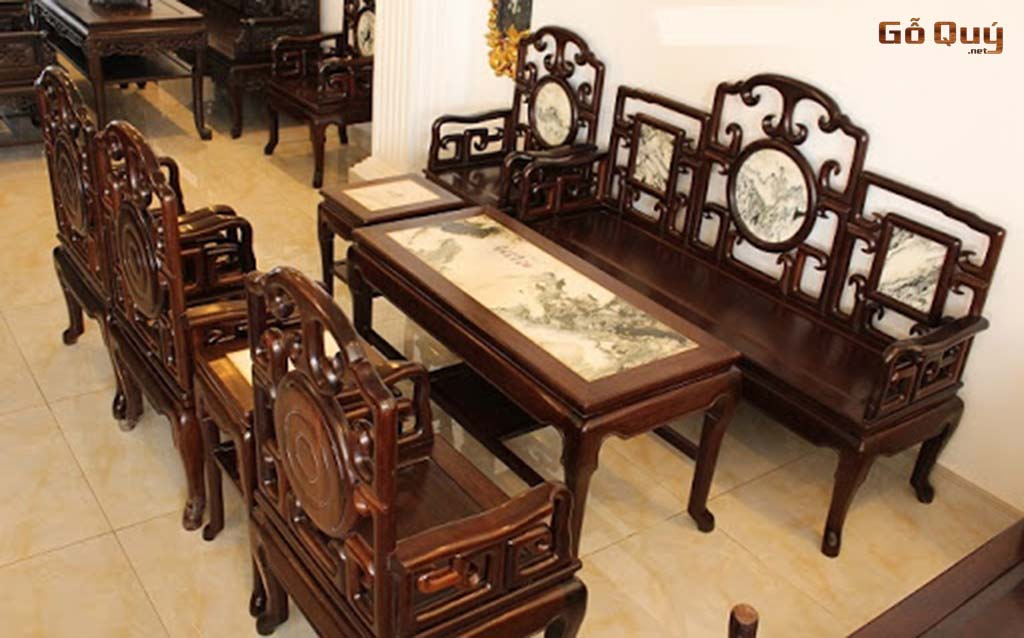 Bàn ghế từ gỗ gụ