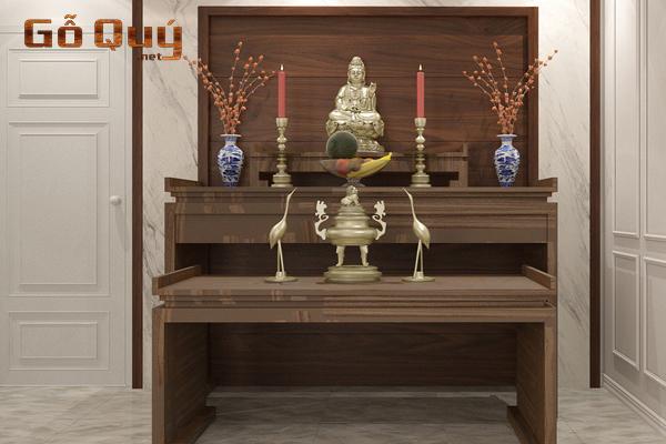 Mẫu ban thờ gỗ quý hiện đại