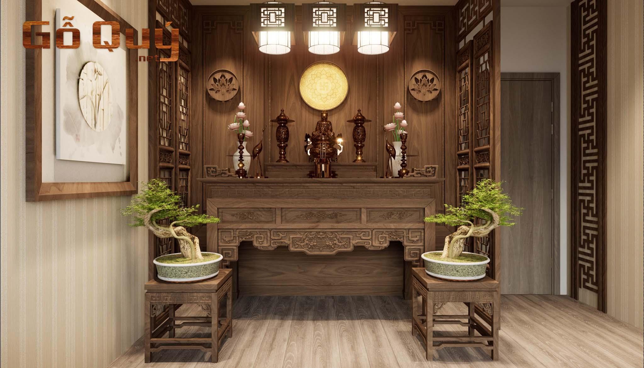 Mẫu thiết kế sập thờ gỗ hiện đại