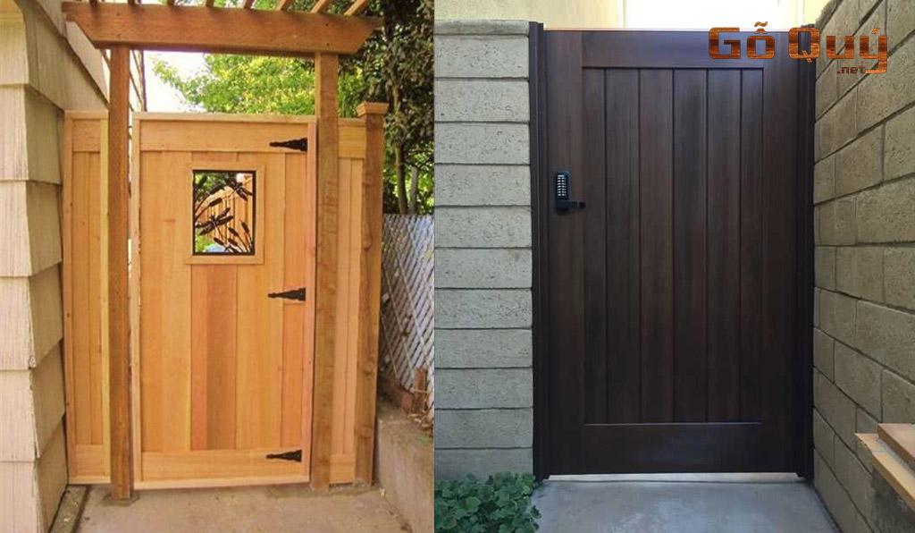 mẫu cổng nhà gỗ 1 cánh