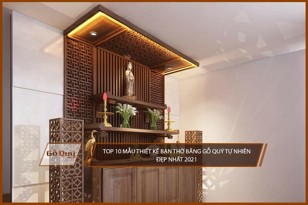 Top 10 mẫu ban thờ gỗ quý đẹp